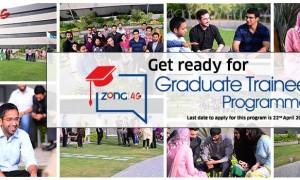 Zong 4G Graduate Trainee Program Jobs 2019 Apply Online