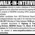 NESPAK Foundation Jobs 2017 for CPEC Projects – Highways and  Infrastructure