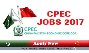 CPECSP Jobs 2017 China Pakistan Economics Corridor Support Project, Ministry of Planning Development and Reform
