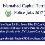 ICT Police Jobs 2017 Islamabad Capital Territory as Counter Terrorism Force