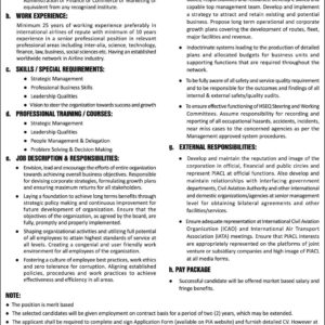 PIA Jobs 2017 Latest employment Pakistan International Airlines Corporation