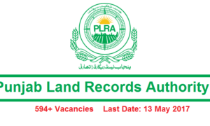 PLRA Jobs Latest 2017 in Punjab Land Records Authority