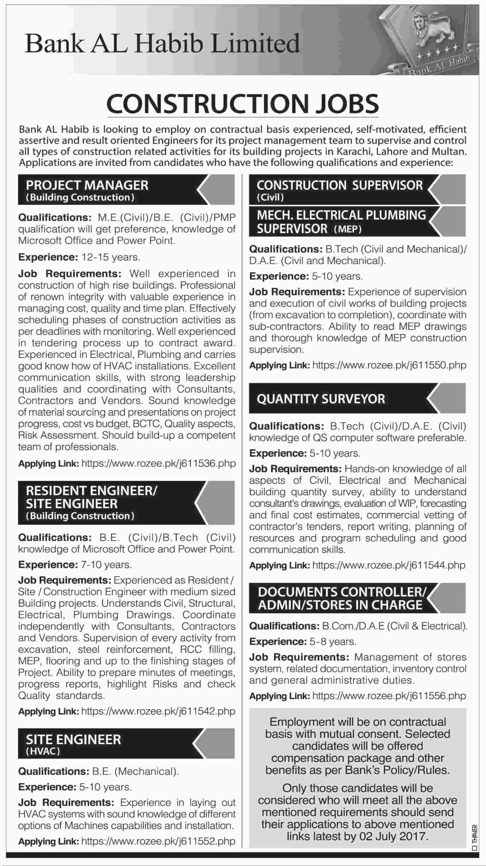 Bank AL Habib Limited Jobs 2017 Latest Apply Online