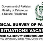 GOP Jobs 2017 Latest Geological Survey Pakistan Jobs 2017