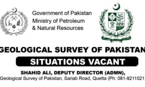 GOP Jobs 2017 Latest Geological Survey Pakistan Jobs 2017