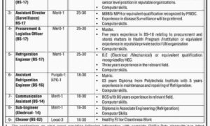 Islamabad Jobs 2017 Latest in Ministry of National Health Services Regulation and Coordination Jobs