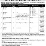 Jobs in Ministry of Science & Technology Islamabad 2017 Latest