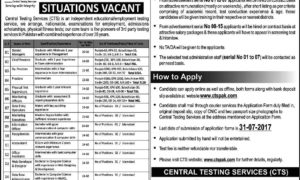 CTS Jobs 2017 Central Testing Services Jobs Latest
