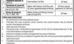 PAEC Technician Jobs at PO Box No 1021 Islamabad Public Sector Organization