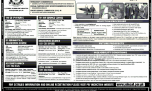 PAF Jobs 2017 Latest as Commission Officer as GDP, Engineering and Others