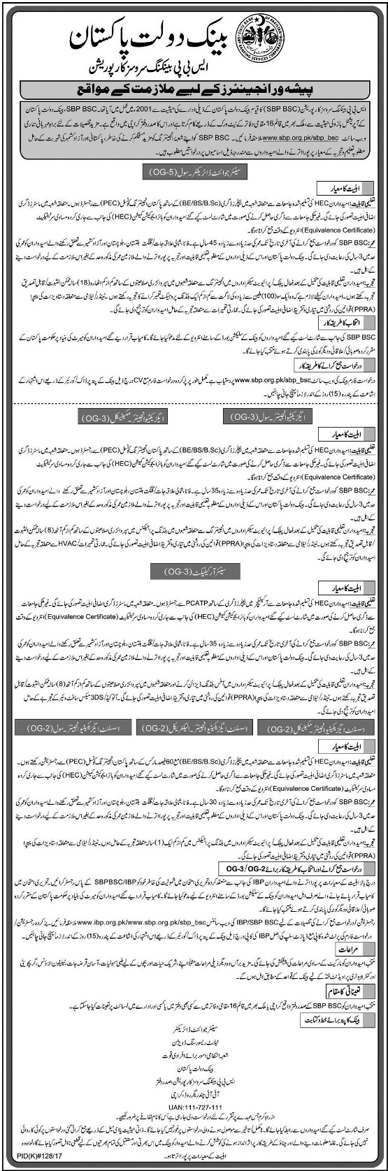 State Bank of Pakistan Jobs SBP Latest Jobs 2017