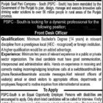 Front Desk Officer Jobs in Punjab Saaf Pani Company Latest PSPC South Jobs 2017