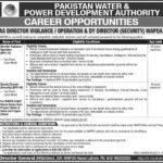 WAPDA Jobs 2017 as Director Vigilance / Operation & Deputy Director Security