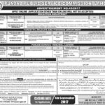 PPSC Jobs 2017 Latest Advertisement No 45/2017 for Veterinary Office, Director and Assistant