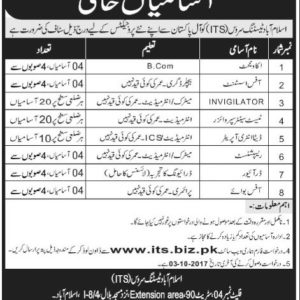 ITS Jobs 2017 Islamabad Testing Service 6100+ Vacancies