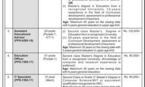 Ministry of Federal Education and Professional Training Pakistan Jobs 2017 Via PTS/OTS