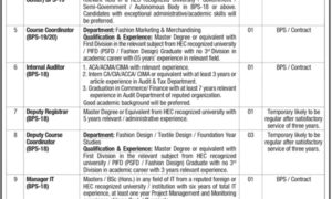 PIFD Jobs 2017 Pakistan Institute of Fashion & Design Latest Jobs