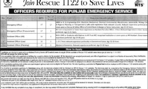 Join Rescue 1122 Jobs 2017 Punjab Emergency Service Department