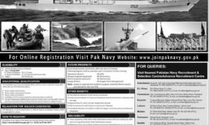 Join Pak Navy 2017 Latest as Commission Officer Jobs