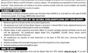 Commonwealth General Scholarship Program 2018 Cultural Exchange / China Government For Masters Degree / MBA / B.Sc Honors (4 years)