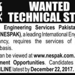 NESPAK Jobs 2018  for Technical Staff Apply Online