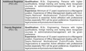 PEC Jobs 2018 Latest Pakistan Engineering Council