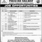 Pakistan Railway Jobs 2018 PRACS Pakistan Railway Advisory & Constancy Services Jobs