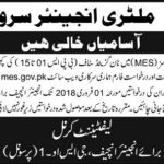 MES Jobs 2018 Military Engineer Services For DAE, Stenotypists, Assistants, Clerks (427 Vacancies