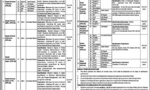 Ministry of National Health Services, Regulation and Coordination Jobs (وزارت صحت)
