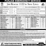 Rescue 1122 Jobs Punjab Emergency Service Department NTS Jobs